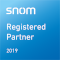 Logo Snom Registered Partner 2019